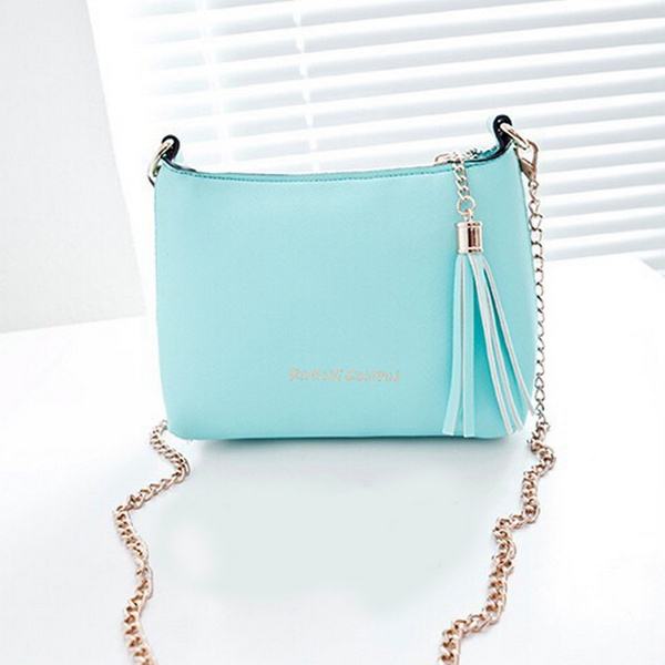 Picture of Women Bag Fashion Women Messenger Bags Chain Shoulder Bag Pu Leather Crossbody Tassel Bags