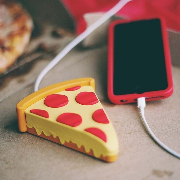 Picture of 2600mah Pizza Power Bank Emoji Charges Ios Android Phone Pizza Powerbank Size Pack Of 1