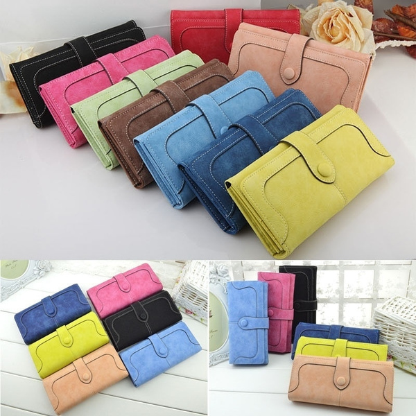 dc7c47a7ff7a Ladies Fashion Leather Wallet Women Wallets Purses Female Large Zipper Long  Vintage Leather Credit Card Handbag