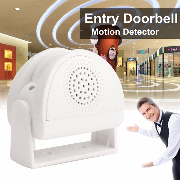 Picture of Wireless Infrared Shop Welcome Chime Door Window Entry Motion Sensor Detector Home Security Alarm W/ 32 Music Vocals Color White