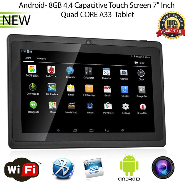 Picture of 7 Inch 8gb Android 4.4 Quad Core Hd Dual Camera Bluetooth Kids Tablet Pc