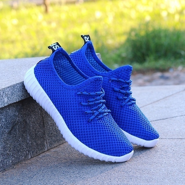 Picture of Womens Spring Summer Fashion New Breathable Sneaker Casual Flat Light Running Sport Shoes Mesh Platform Shoes