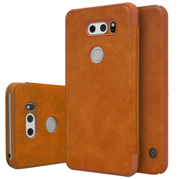 premium selection 12b58 9519c Smart Wakeup/Sleep ID/Credit Card Slots Anti-Scratch Synthetic Leather  Shockproof Wallet Case For LG V20 (2016), V30