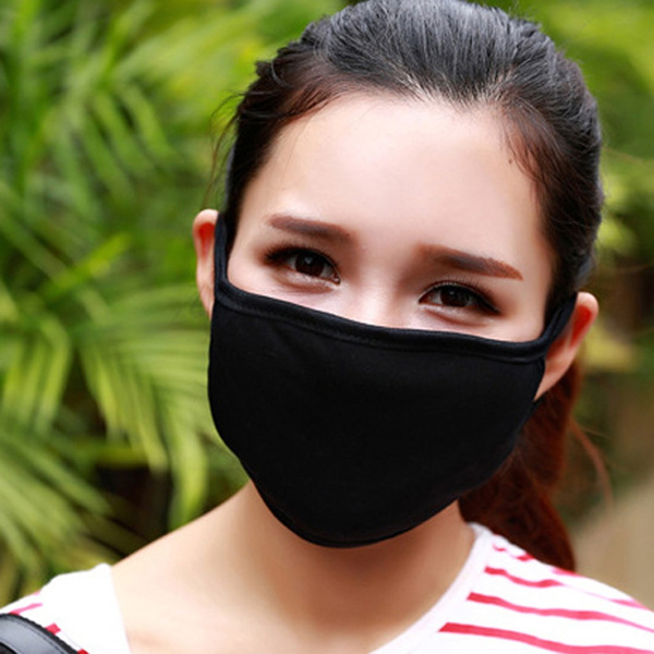 Outdoor Warm Mouth Mask Anti-dust Flu Face Mask Unisex Mask Respirator Black