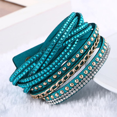Crystal Bracelet, Joyería, rivetbracelet, Multi-layer