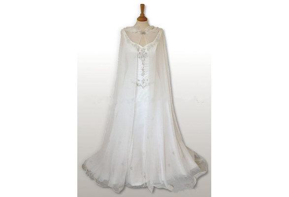 2017 Hot Custom Long Wedding Bridal Cloak White/Ivory Capes Hooded Medieval Wraps New