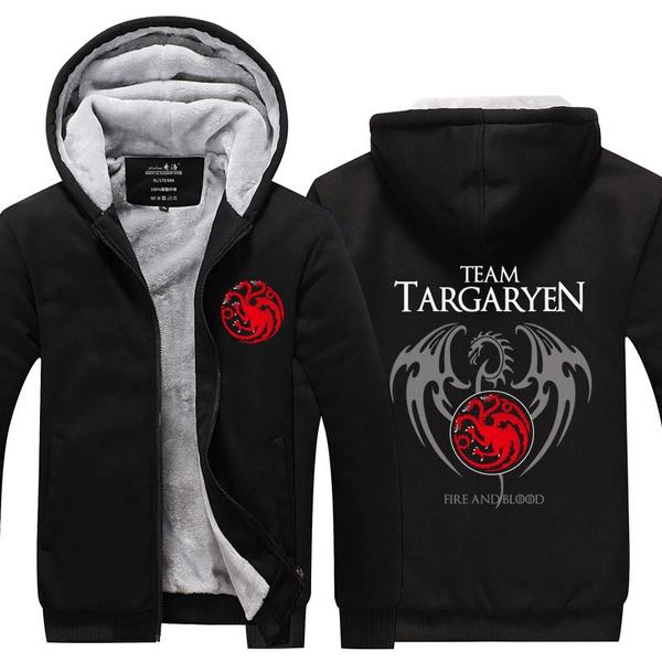 Game of Thrones House Targaryen Jacket Sweatshirts Thicken Hoodie Coat new GOT