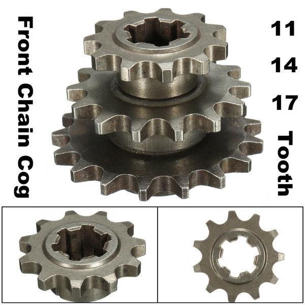 17 Tooth Front Engine Sprocket Fits 47cc 49cc Mini Moto Dirt Bike T8F Chain.