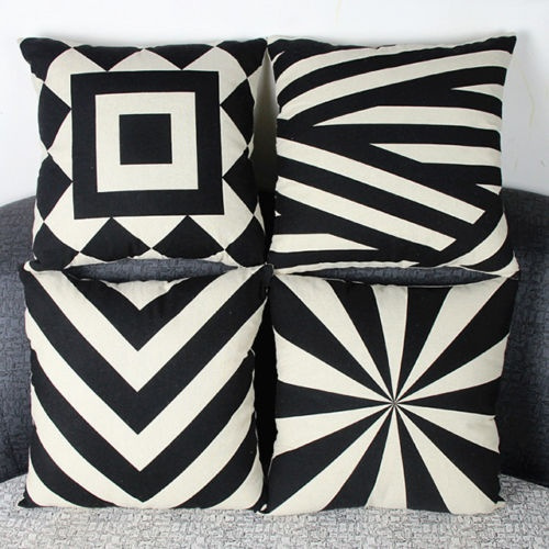 Wish | Quadrate Linen Cotton Blended Crown Cushion Cover Throw Pillow Case Home Decor