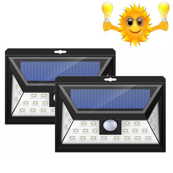 Picture of Home Living Accessories Solar Light Led Outdoor Solar Powered Wireless Waterproof Security Motion Sensor Light For Patio Deck Yard Garden Driveway Outside Wall With 3 Modes Motion Activated Wide Angle Sensor Color Black