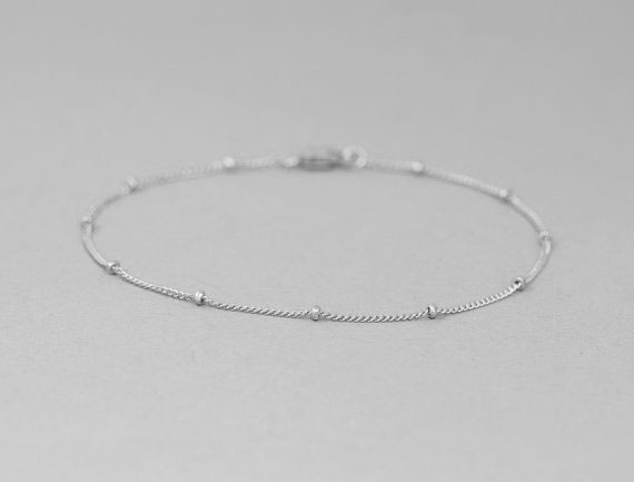 Wish Delicate Gold Bracelet Dainty Chain Thin Layering