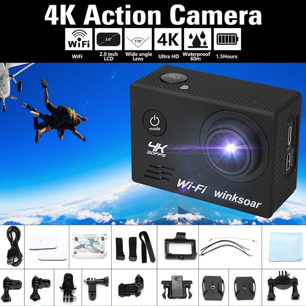 Picture of Waterproof 2.0'' Lcd Ultra 4k 120 Wide Angle Lens Wifi Sports Action Dv Camera Gifts Tools Accessories
