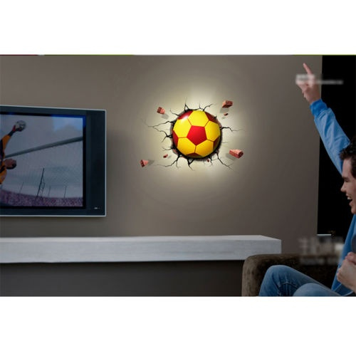 Wish | Soccer Ball Nightlight Football Marvel 3D Wall Art Lamp ...
