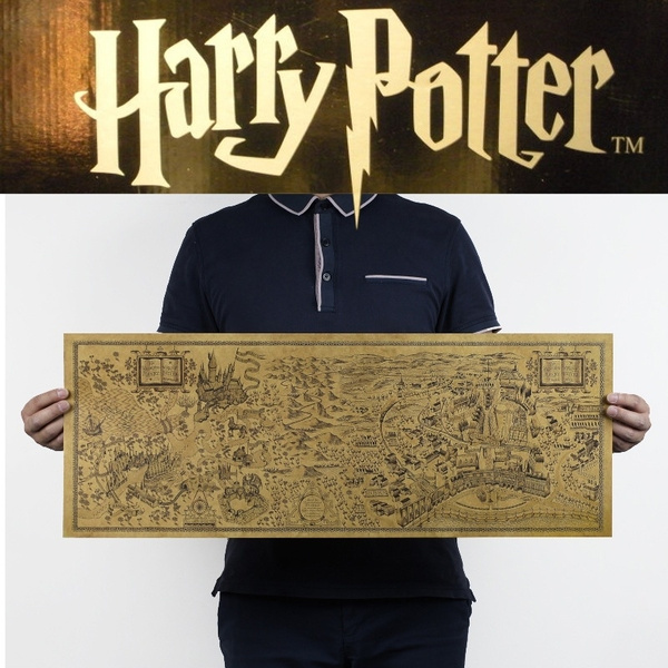 Picture of Creative Magical World Of Harry Potter Movie Posters To Restore Ancient Ways Decoration Adhesive Wall Without Frame 72x26cm