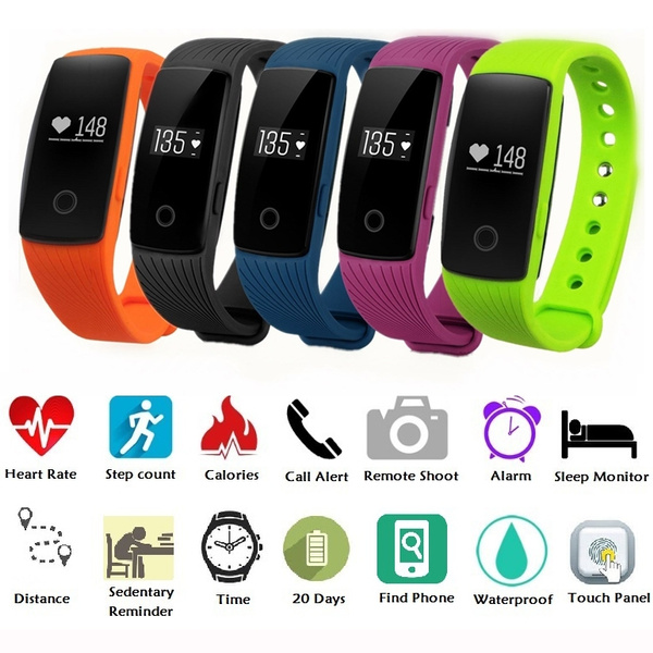 Picture of Diggro Id107 Heart Rate Smart Bracelet Call/sms Reminder Pedometer Sedentary Sleep Monitor Remote Capture For Android Ios