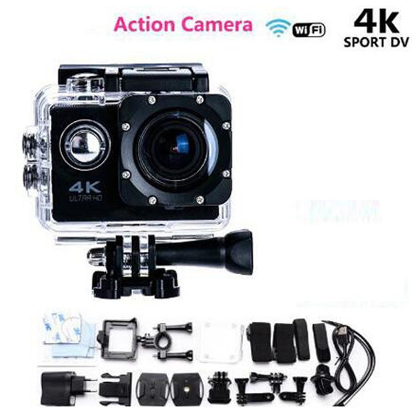Picture of Oringinal Ultra Hd 4k Video Wifi Sport Dv 170 Degree Wide Angle Sports Camera 2-inch Screen 1080p 30fps Action Camera +2 Battery
