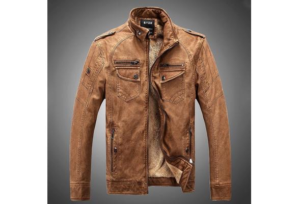 Hot ! High Quality New Winter Fashion Men's Coat Leather Jacket