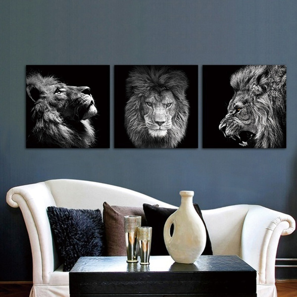 lionpainting, King, blackcanvasart, framelesscanva