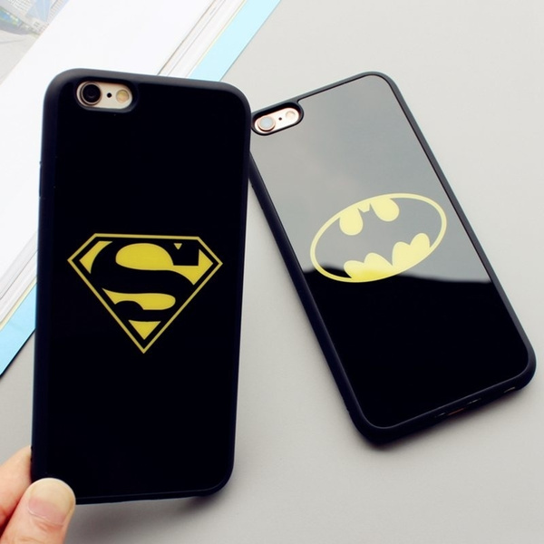 Picture of Superman /Batman Logo Mirror Surface Phone Case Soft Silicone Full Protective Back Cover For Iphone 5 5s Se / 6 6s / 6 6s Plus /7 7plus