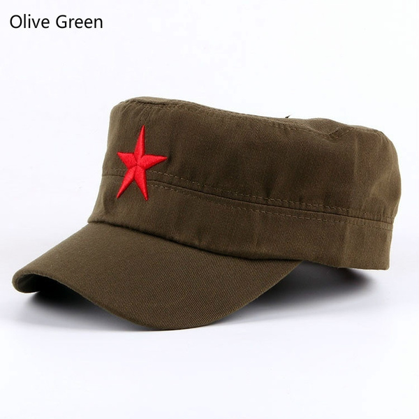ca52743288a Cuba Fidel Castro and Che Guevara Five - pointed star cap Red Army hat  breathable five - star canvas five - pointed star knitted fabrics  pentagonal ...