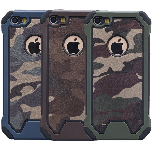 new style 39f72 723e3 Hybrid Dual Layer Camo Army Armor Hard Camouflage Case For iphone 5 5s SE /  iphone 6 6s Plus / iphone 7 / iphone 7 Plus / ipod Touch 6 / iphone 8 / ...