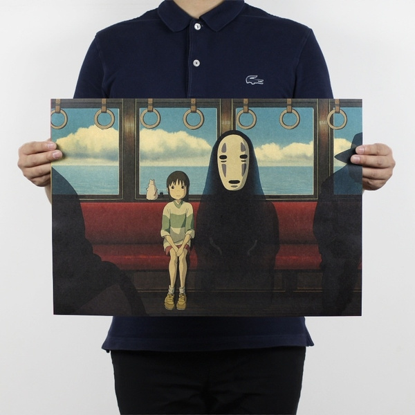 Picture of Spirited Away Poster Vintage Wall Posters Painting For Walls Bedroom Decoration 51x35.5cm