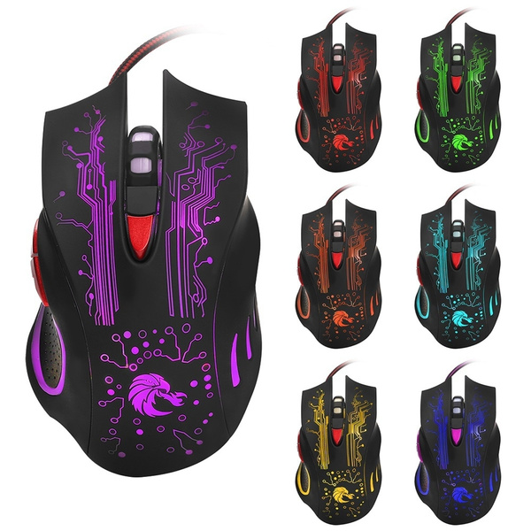 Picture of Pro Gamer Mice 3200dpi Led Optical 6d Usb Wired Gaming Mouse Color Black