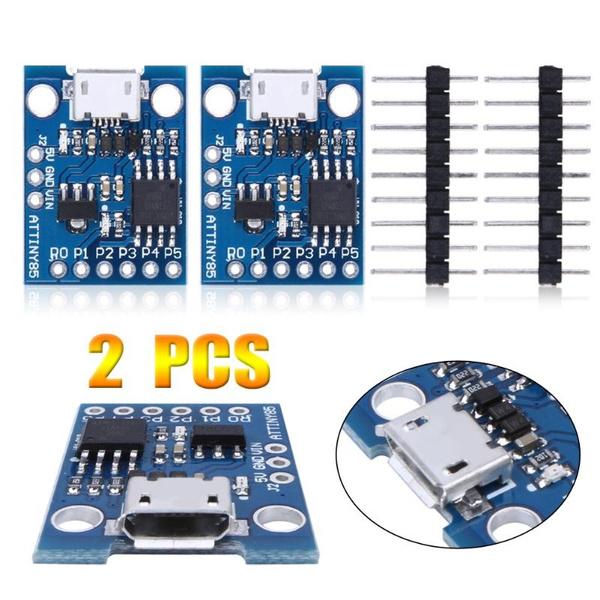 2PCS Digispark Kickstarter ATTINY85 Arduino General Micro USB Development Board