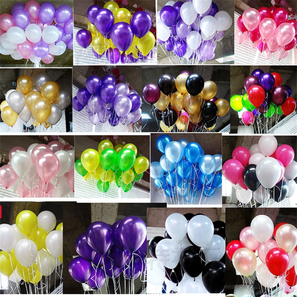 Picture of 50pcs Latex Large Helium High Quality Party Birthday Wedding Balloons Balloons