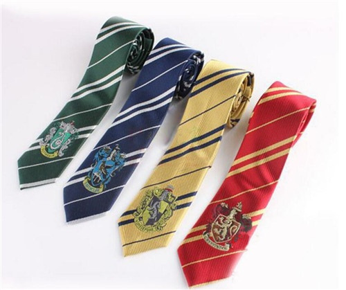 Super !! 4 Colors Hogwarts School Tie Suit Clothing Accessories Necktie College Style Tie Harry Potter Fans Gift