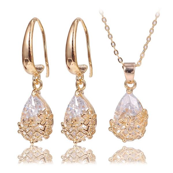 Cubic Zirconia, Jewelry Set, Fashion, Jewelry