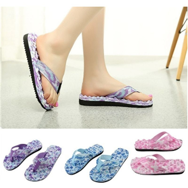 Picture of Women's Camouflage Flat Slippers Summer Beach Slippers Massage Slippers