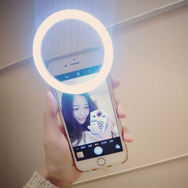 NEW Selfie Portable LED Ring Fill Light Camera Photography