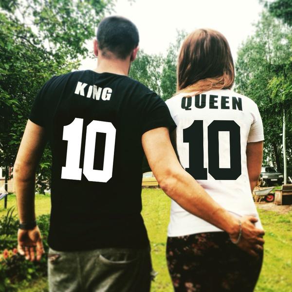 4d4546aeb King Queen Matching Couple T-shirt King 10, Queen 10 Couples T-shirt ...
