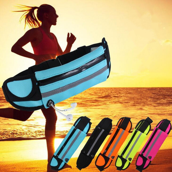 Picture of Fashion Outdoor Fitness Sports Running Marathon Waterproof Waist Belt Bag Pouch Mobile Phone Pack