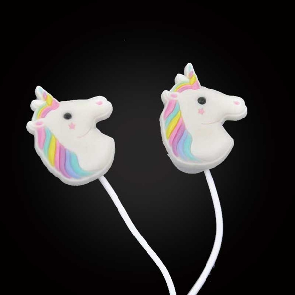 Picture of Special Unicorns Cartoon Headphones Earphone 3.5mm With Mic For Smartphone Color Multicolor