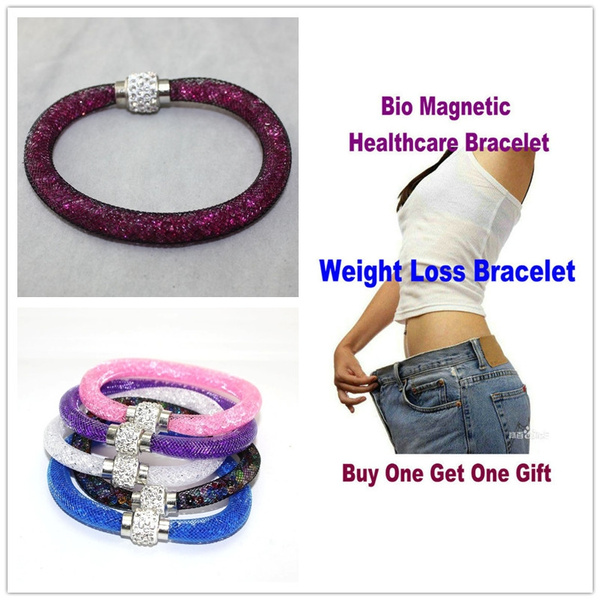 Picture of Bio Magnetic Healthcare Bracelet Weight Loss Bracelet Slimming Healthy Stimulating Acupoints Stud Bracelet Magnetic Therapy +Free Surprise No017