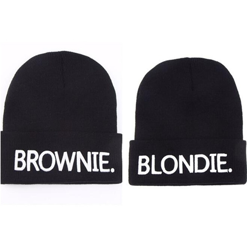 BLONDIE BROWNIE High Quality Hot Sale Beanies Girlfriend Women Gifts for Her Knitted Hat Skullies Bonnet Winter Hats