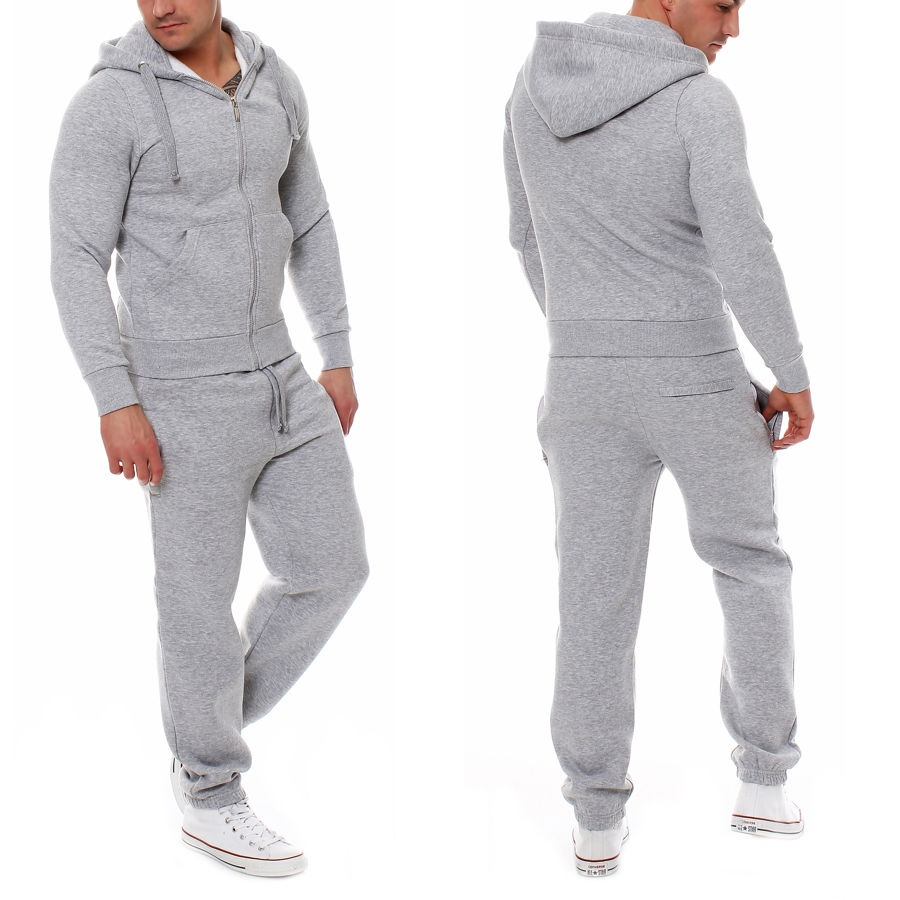 mens jogging tracksuit sports gym hooded sweat suit set. Black Bedroom Furniture Sets. Home Design Ideas