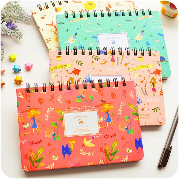 Cute Diary Notebook Weekly Planner Agenda Korean Stationary for School  Office - 4 Colors Optional beautifulspace