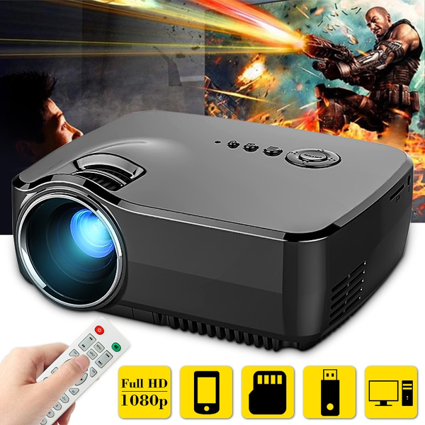 Picture of Portable Led Projector 1080p Full Hd 1200 Lumens Hdmi Usb Lcd Mini Home Theater Syestems Multimedia Beamer