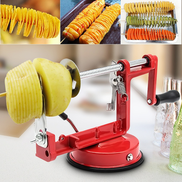 Stainless Steel Twisted Potato Apple Slicer Cutter Spiral French Fry Cutter EAN