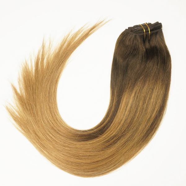 Wish Stella Reina Clip In Hair Extensions Caramel Brown Highlights