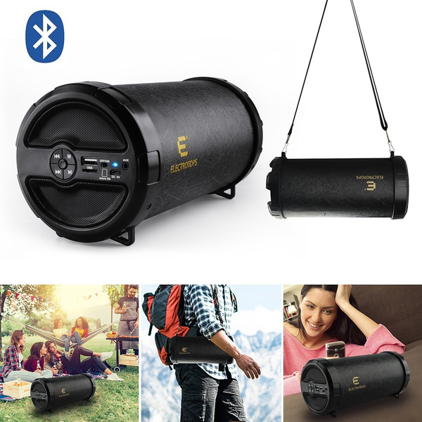 Picture of Bazooka Pu Leather Bluetooth Speaker Orateur Portable Wireless Bass Stereo Fm Tf Tube Waterproof