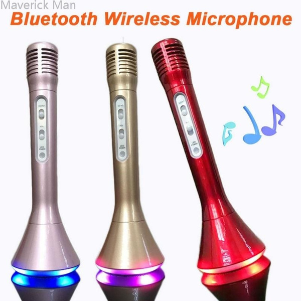 Picture of Maverick Man Mini Karaoke Player Ktv Singing Record Wireless Microphone Microfone With Mic Colors Led Speaker