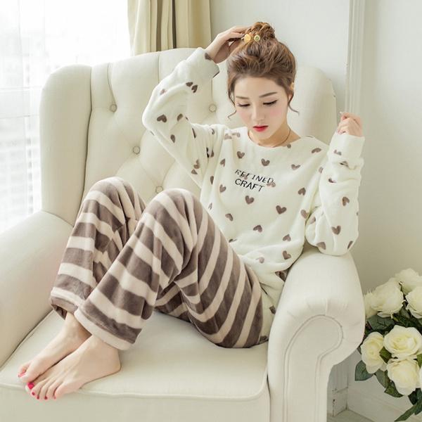 women's pajamas, Love, Sleeve, cute