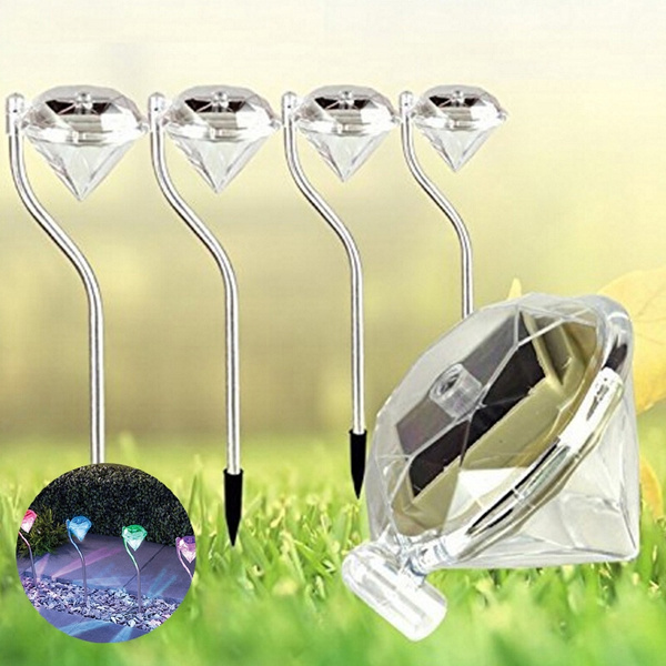 Picture of Us/uk Trendy New Outdoor Solar Power Led Path Wall Landscape Mount Garden Fence Lamp Light