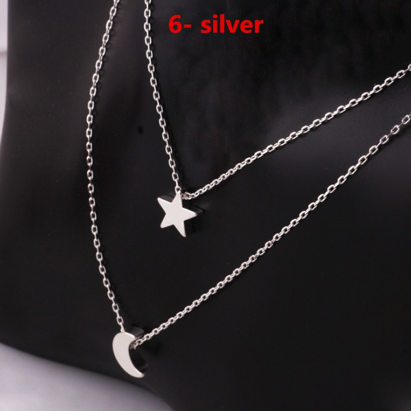 Fashion Necklace Jewelry Gold Plated Unique Charming Bar Circle Lariat Punk Chain Choker Pendants & Necklaces For Women Lady