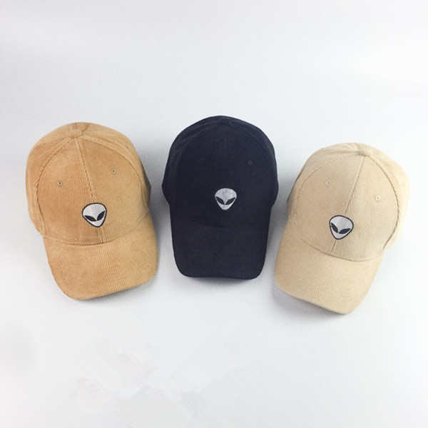 83b98301172e0c Men and Women Alien Embroidery Corduroy Baseball Cap Hip-hop Caps Outdoor  Casual Hat | Wish