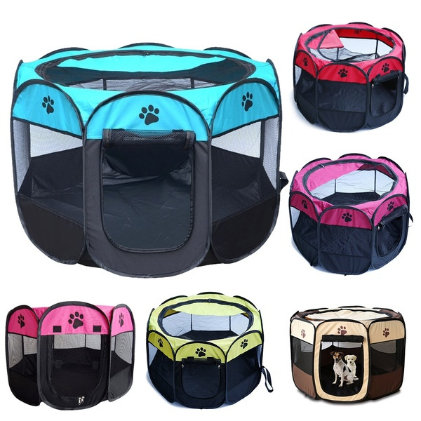 Large Portable Dog Playpen with Removable Mesh Top